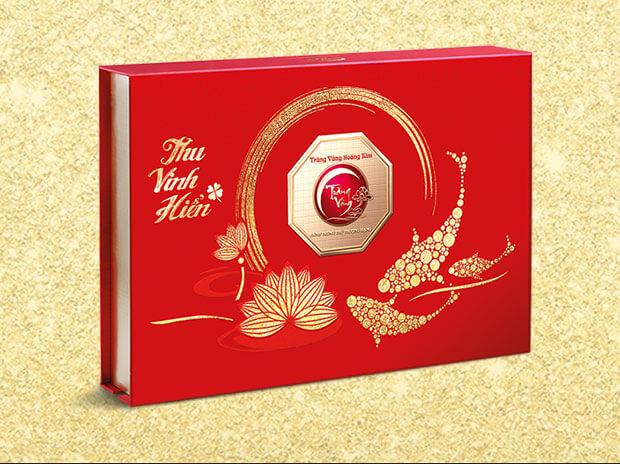 Bánh Trung Thu Trăng Vàng Hoàng Kim Vinh Hiển Đỏ